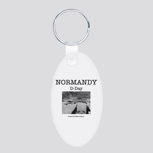 Normandy Americasbesthistor Aluminum Oval Keychain
