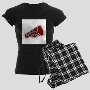 Red Cheer Megaphone Women's Dark Pajamas
