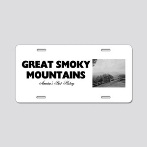 Smoky Mountains Americasbes Aluminum License Plate