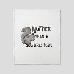Nuttier Than a Squirrel Turd Throw Blanket