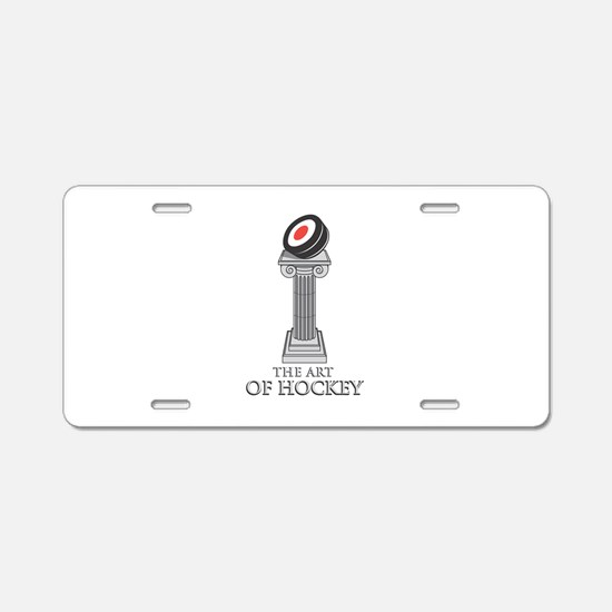 The Art of Hockey Aluminum License Plate