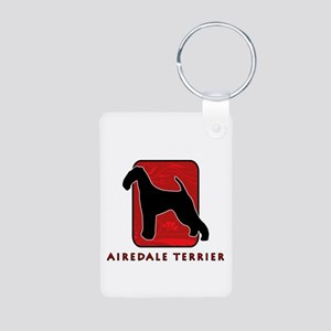 Airedale Terrier Aluminum Photo Keychain