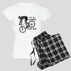 Downhill Mountain Biker Women's Light Pajamas