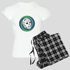 Goalie Mask Circle Design Women's Light Pajamas