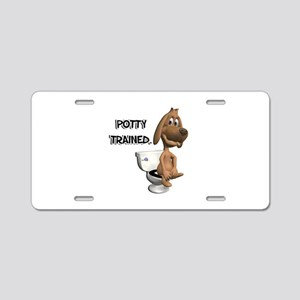 Potty Trained Puppy Dog Aluminum License Plate