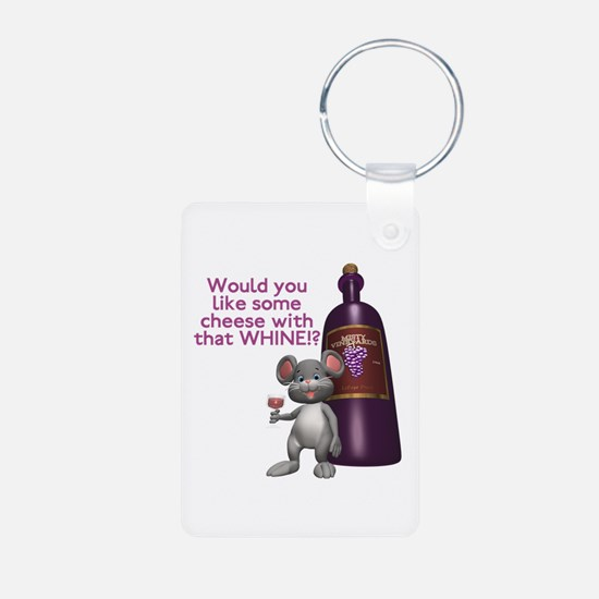Cheese with your Whine? Aluminum Photo Keychain