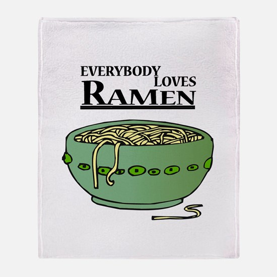 Everybody loves Ramen Throw Blanket