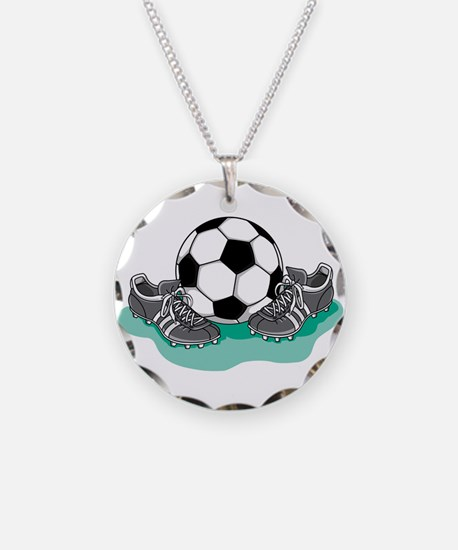 Soccer Ball and Cleats Necklace