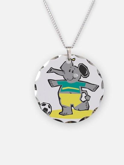 Cute Soccer Elephant Necklace