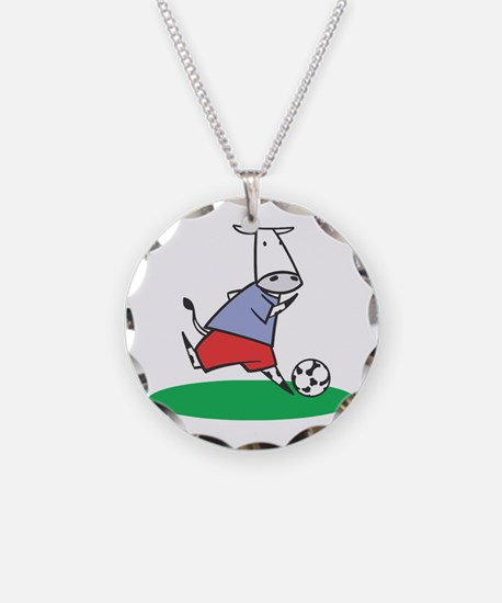 Soccer Cow Necklace
