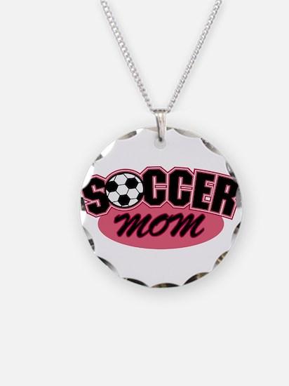 Pink Soccer Mom Design Necklace