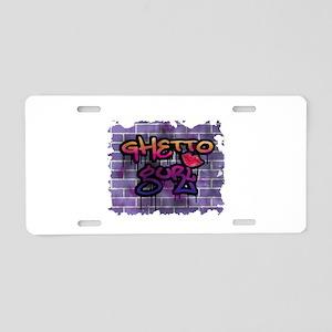 """Graffiti Style """"Ghetto Gurl/G Aluminum Licens"""
