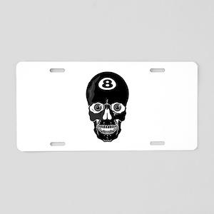 Eight Ball (8 Ball) Skull Aluminum License Plate