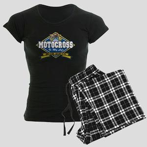 Motocross Is My Life Women's Dark Pajamas