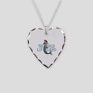 Mermaid Lifeguard Necklace Heart Charm