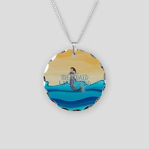 Mermaid Lifeguard Necklace Circle Charm