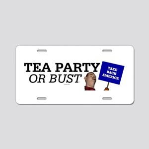 Tea Party or Bust Aluminum License Plate