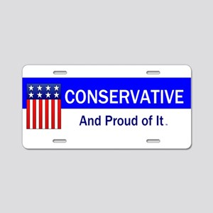 Conservative Slogan Aluminum License Plate