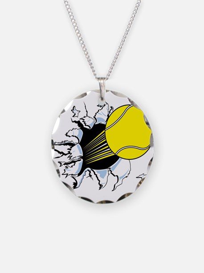Tennis Ball Ripping Through Necklace
