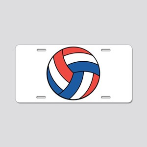 Red, White and Blue Volleybal Aluminum License Pla