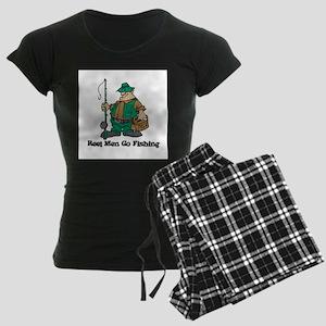 Reel Men Go Fishing Women's Dark Pajamas