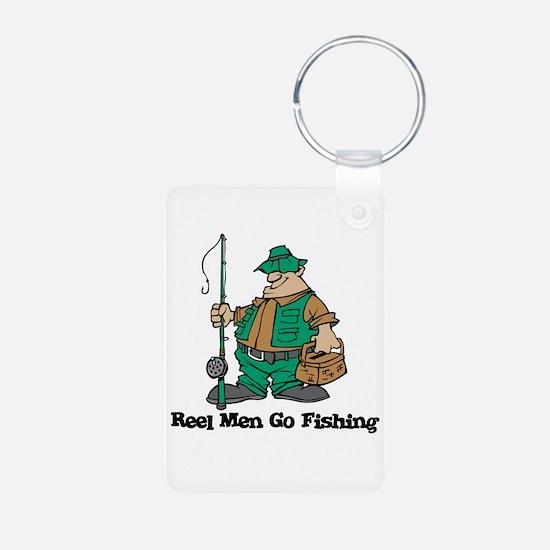 Reel Men Go Fishing Keychains