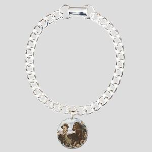 TEE Old School Cowgirl Charm Bracelet, One Charm