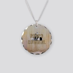 Rodeo Cowgirl Necklace Circle Charm