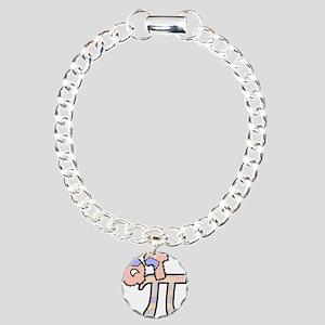 Q T Pi Cutie Pi Charm Bracelet, One Charm