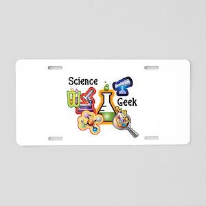 Science Geek Aluminum License Plate