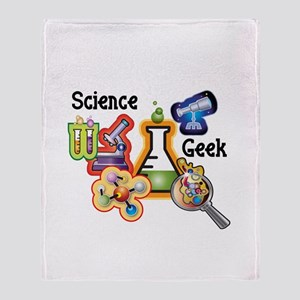 Science Geek Throw Blanket
