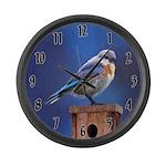 Bluebird (Female) Large Wall Clock