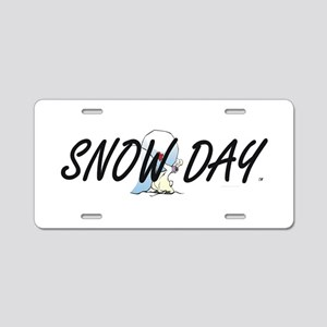 Snow Day Aluminum License Plate