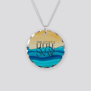 Ocean Time Necklace Circle Charm