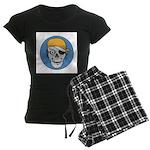 Colored Pirate Skull Women's Dark Pajamas