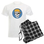 Colored Pirate Skull Men's Light Pajamas