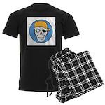 Colored Pirate Skull Men's Dark Pajamas