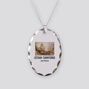 Canyonlands Necklace Oval Charm