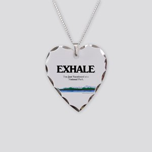 National Park Vacation Necklace Heart Charm