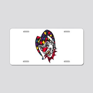 Mad Evil Jester Clown Aluminum License Plate