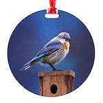 Bluebird (Female) Round Ornament