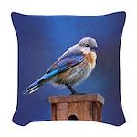 Bluebird (Female) Woven Throw Pillow