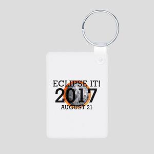 Eclipse 2017 Aluminum Photo Keychain Keychains