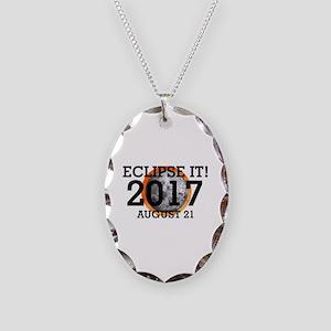 Eclipse 2017 Necklace Oval Charm