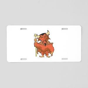 Strong Devil Aluminum License Plate