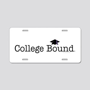 College Bound Aluminum License Plate