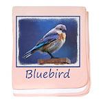 Bluebird (Female) baby blanket