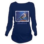 Bluebird (Female) Long Sleeve Maternity T-Shirt