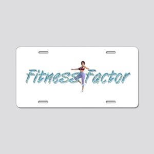 Fitness Factor Aluminum License Plate