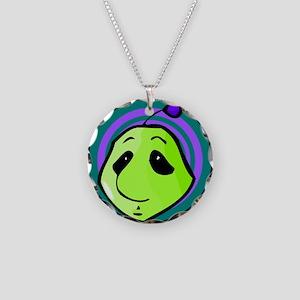 Alien/Martian Head Necklace Circle Charm